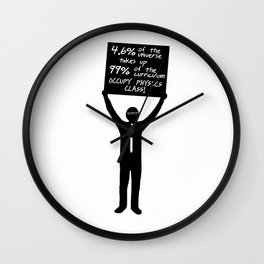 Occupy Physics Class Wall Clock