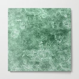 Grayed Jade Oil Painting Color Accent Metal Print