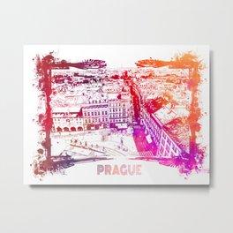 Prague skyline panorame Metal Print
