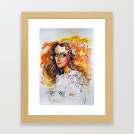 Dreamy girl Framed Art Print