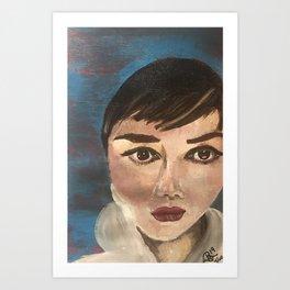 4/100 100 Faces project Art Print