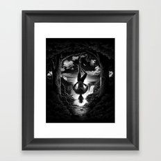 XII. The Hangman Tarot Card Illustration Framed Art Print