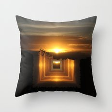 Catch a little sunrise and save it for a rainy day Throw Pillow