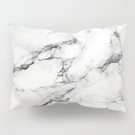 Greyish White Marble Pillow Sham
