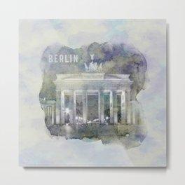 BERLIN Brandenburg Gate | watercolor Metal Print