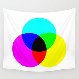 CMYK Color Model Wall Tapestry