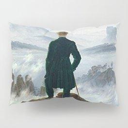 Wanderer above the Sea of Fog Painting by Caspar David Friedrich Pillow Sham