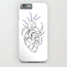 Lavender Human Heart iPhone Case