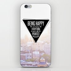 Being Happy iPhone & iPod Skin