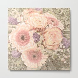 festive colored flower pattern Metal Print
