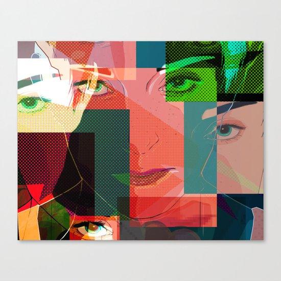 Eyes Pop art Canvas Print