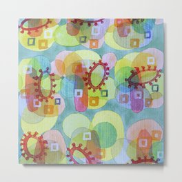 Lovely Pattern with Red Rings Metal Print