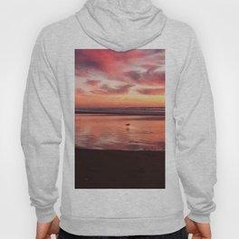 Deep red beach sunset Hoody