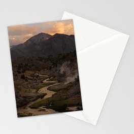Hot Creek Sunset in the Sierras Stationery Cards
