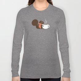 Squirrel Coffee Lover Holiday Long Sleeve T-shirt