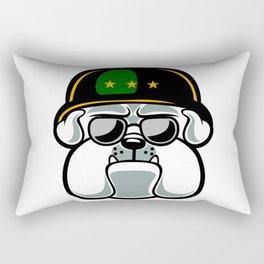 Bulldog Army Mascot Rectangular Pillow
