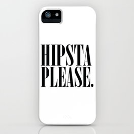 Hipsta Please - Harry Styles iPhone Case