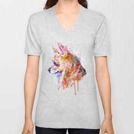 Watercolor Chihuahua Unisex V-Neck