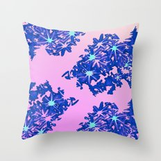 coral / floral Throw Pillow