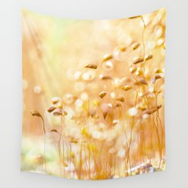 Sentinel moss flowers - Nature Fine Art photography Wall Tapestry