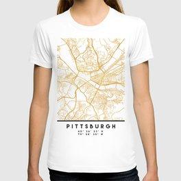 PITTSBURGH PENNSYLVANIA CITY STREET MAP ART T-shirt