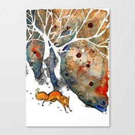 The Winter Fox Canvas Print