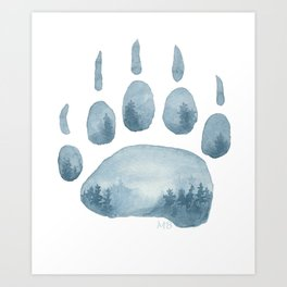 Misty Mountain Hop Art Print