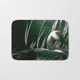 Art print: The white swan Bath Mat
