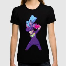JJBA :: Josuke and Crazy Diamond Ver.1 Black MEDIUM Womens Fitted Tee