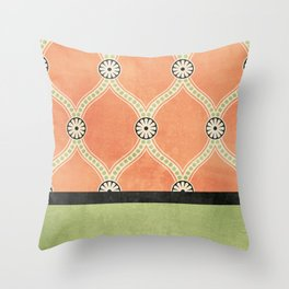 Tangerine Deco Throw Pillow