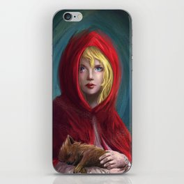 Red and Little Wolf iPhone Skin