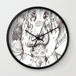 Sad Bloodhound Wall Clock