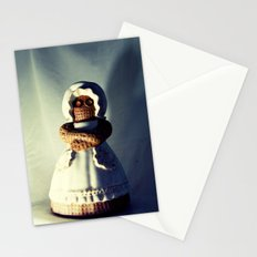 Menacing Ceramic/Burlap Horror Doll Stationery Cards