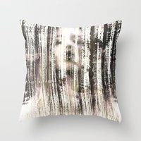 ghost Throw Pillows featuring Ghost  by Peter Coleman