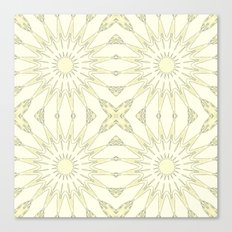 Beige Flowers Canvas Print