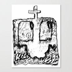 Happy Grave Canvas Print