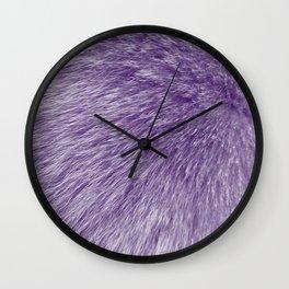 Lollipop Purple Fur Wall Clock