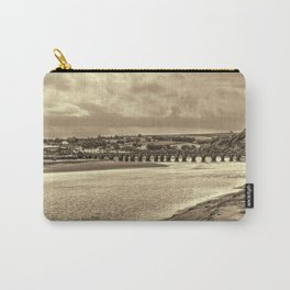 Bideford Long Bridge Devon Sepia Carry-All Pouch