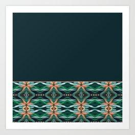 Rainforest Pattern - ocelot spots II Art Print
