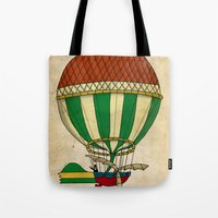 balloon Tote Bags featuring Balloon by Janko Illustration