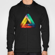 Abstract Multi Color Cubizm Painting Hoody