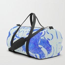 Dk. Blue Flower Duffle Bag