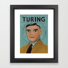 Alan Turing Framed Art Print