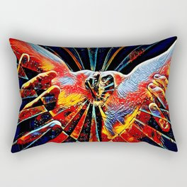 5809s-KMA_6109 Celebrate the Feminine Creation Power L'Origine du Monde Explicit Abstract Sex Art Rectangular Pillow