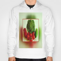 vegetables Hoodies featuring Fresh Vegetables by Art-Motiva