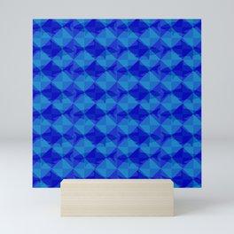 Blue Shark Square. Mini Art Print