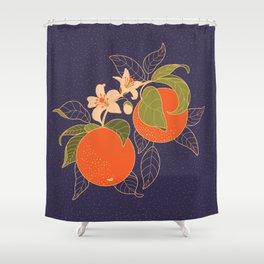 Orange Branch Shower Curtain