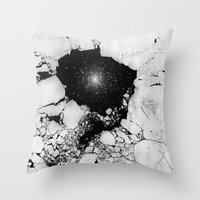 cracked Throw Pillows featuring Cracked by Andrea Orlic