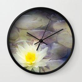 Magic Water Lily 2 Wall Clock