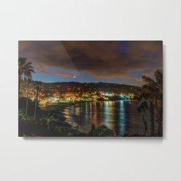 Moonrise Over Main Beach Metal Print
